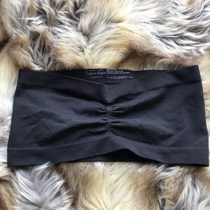 Calvin Klein Perfectly Fit black bandeau bra top